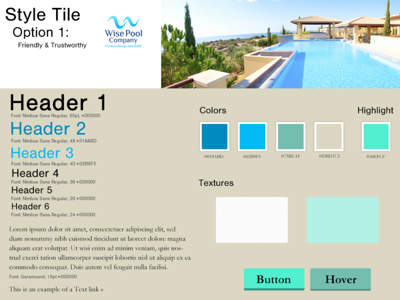 Pool Construction Company – Website Redesign