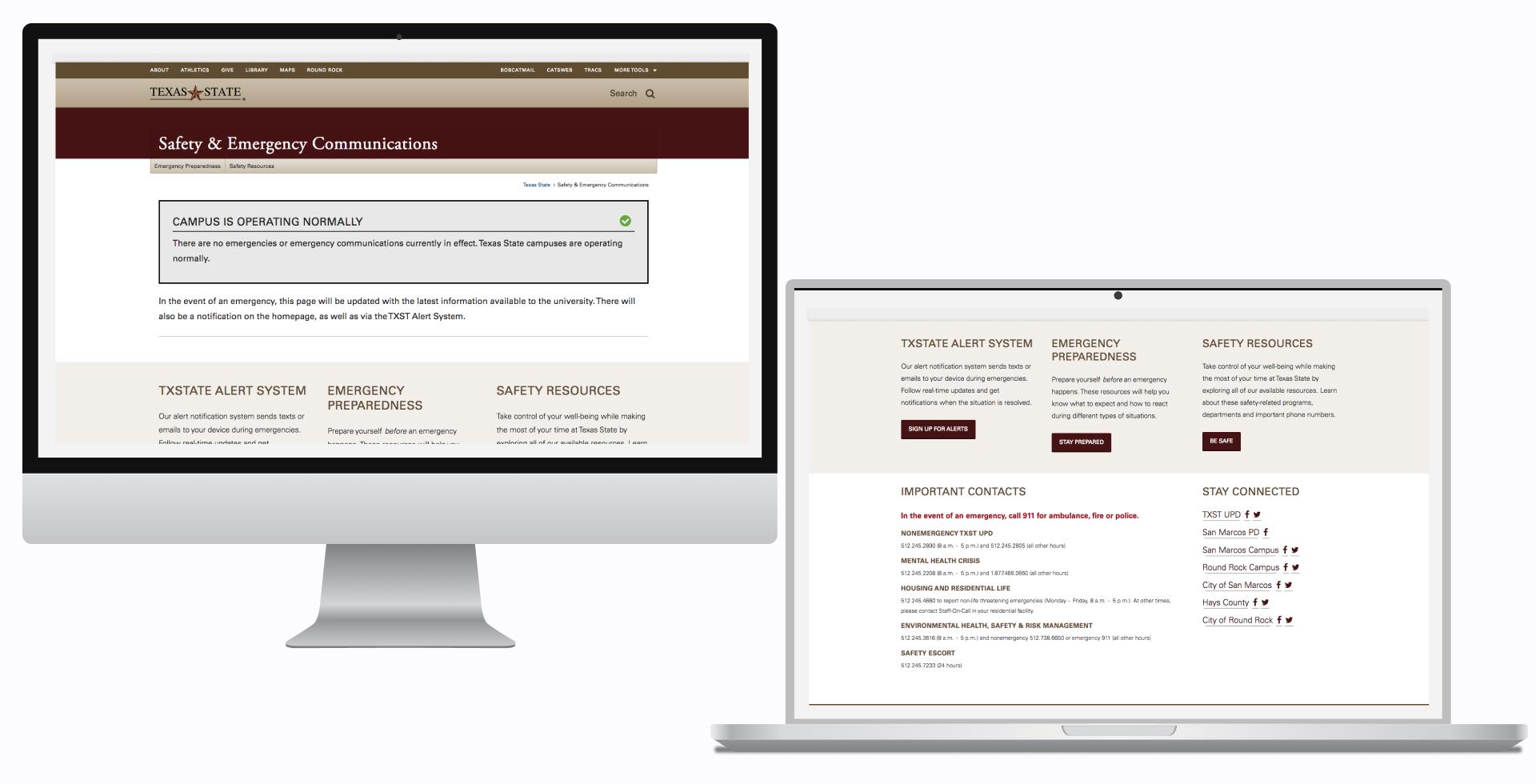 Safety & Emergency Communications Website - Brooke Thrasher